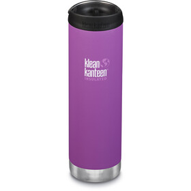 Klean Kanteen TKWide Bottle with Cafe Cap 592ml Vacuum Insulated berry bright matte